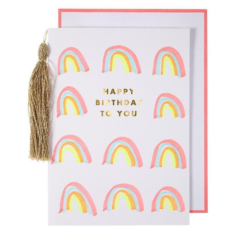 Rainbows & Tassel Birthday Card