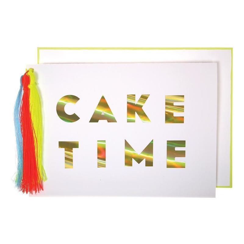 Cake Time Tasseled Card