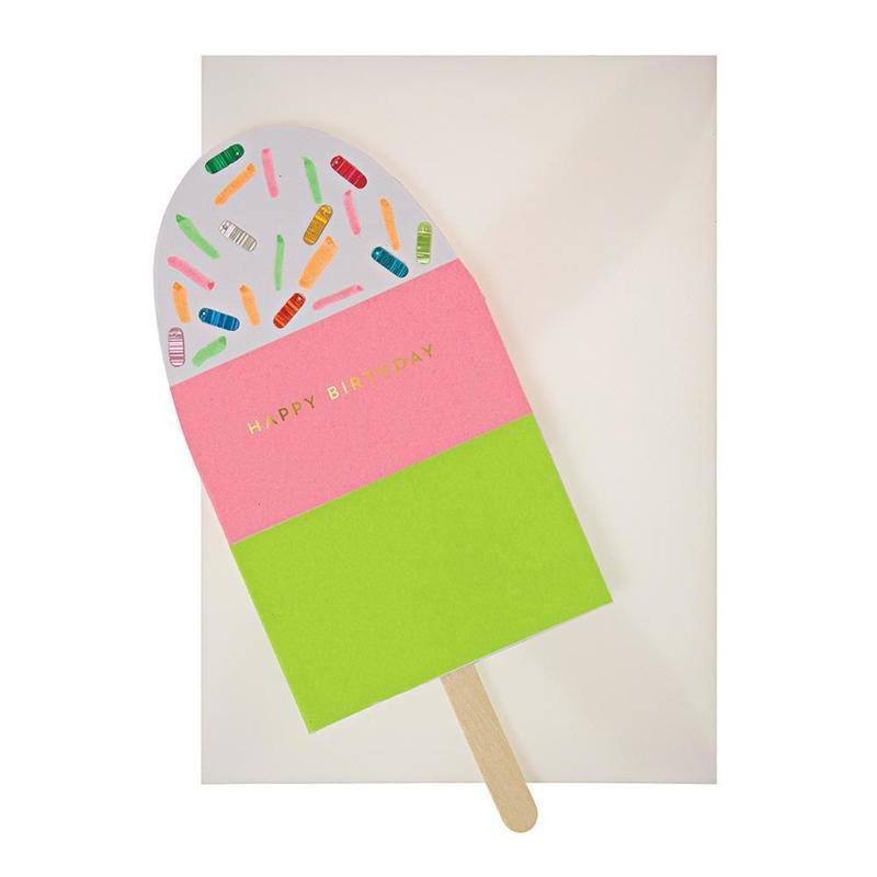 Neon Popsicle Greeting Card