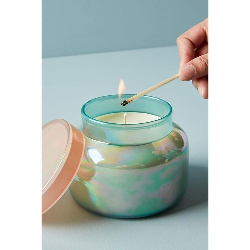 Capri Blue Iridescent Jar Candle -pink