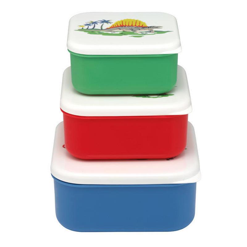 Dino set of 3 Snack Boxes