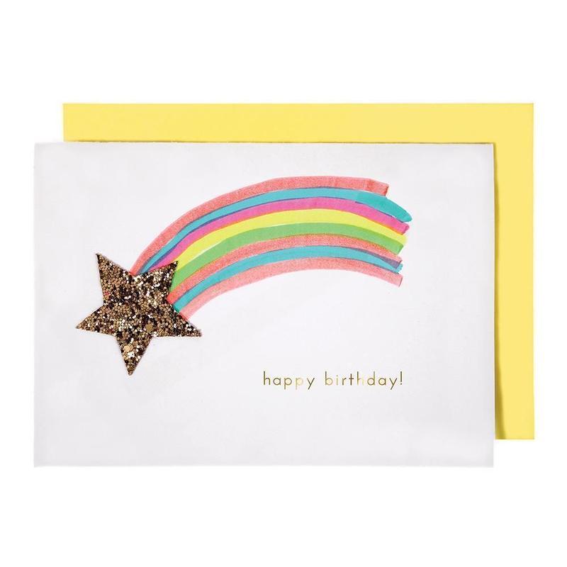 Shooting Star Birthday Card