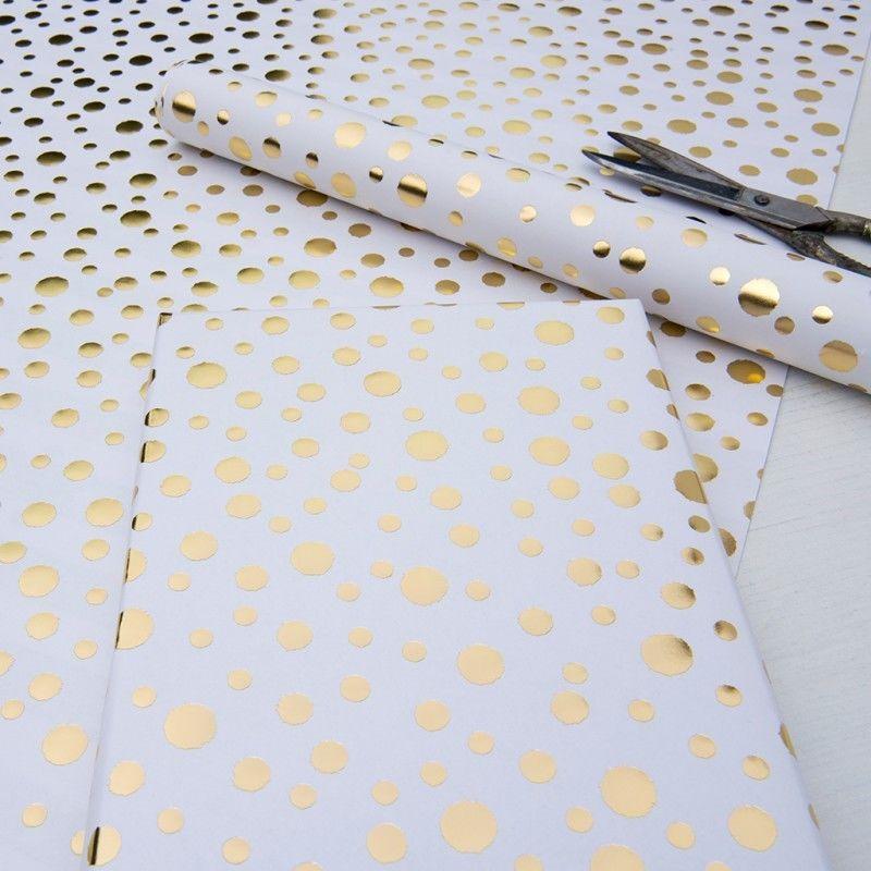 Gold Spot ラッピングペーパー white