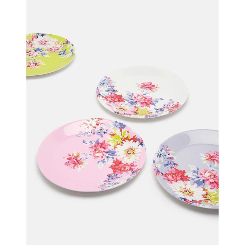 BLAZE Set of Four Plates Floral