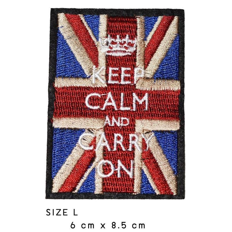 KEEP CALM AND CARRY ON ワッペン