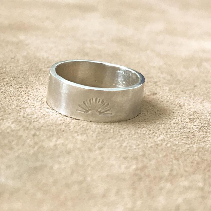 Stamp Ring  -Sun-
