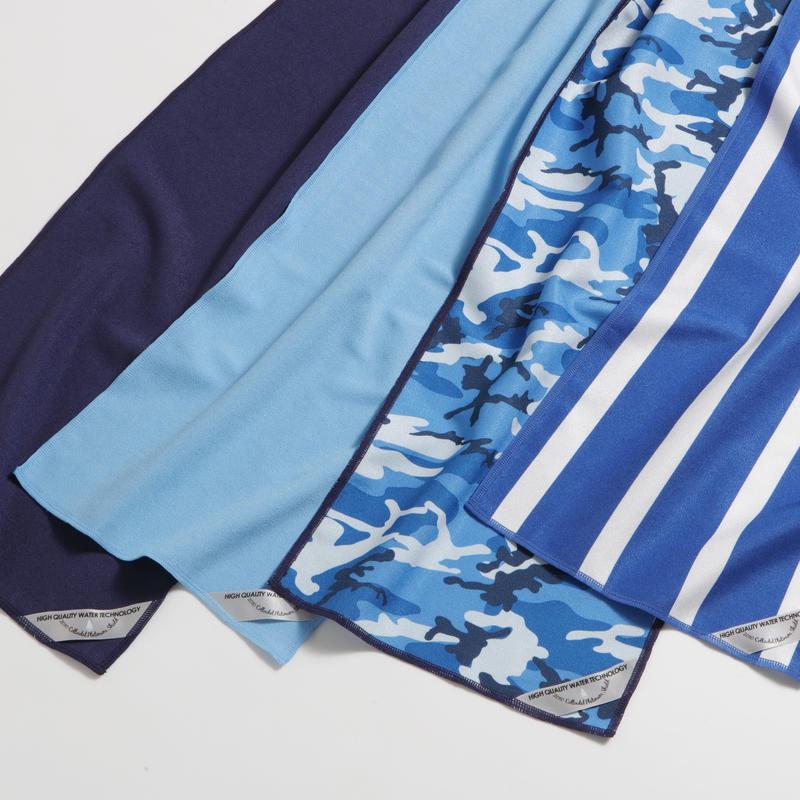 SUPER COOLING TOWEL / スーパークーリングタオル-振って冷たくなる急冷タオル-お得な4色SET