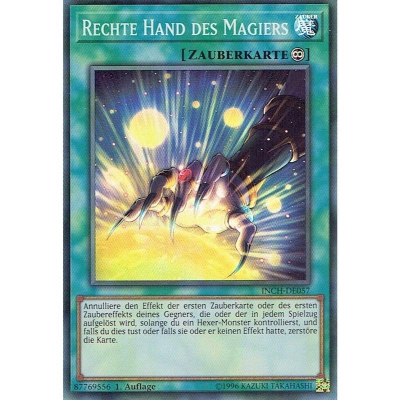 ドイツ語版 INCH-DE057  魔術師の右手 (スーパーレア) 1st Edition