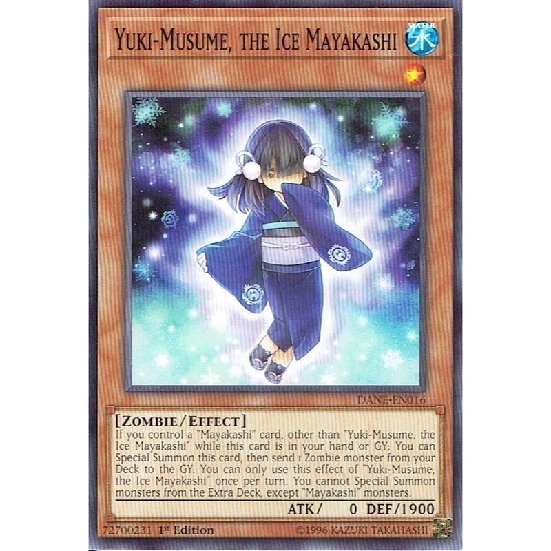 英語版 DANE-EN016 Yuki-Musume, the Ice Mayakashi 氷の魔妖-雪娘 (ノーマル) 1st Edition