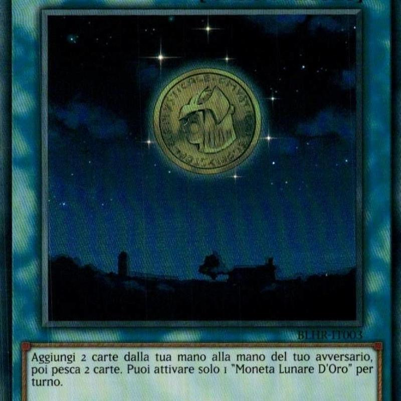イタリア語版 BLHR-IT003 Gold Moon Coin 星の金貨 (ウルトラレア) 1st Edition