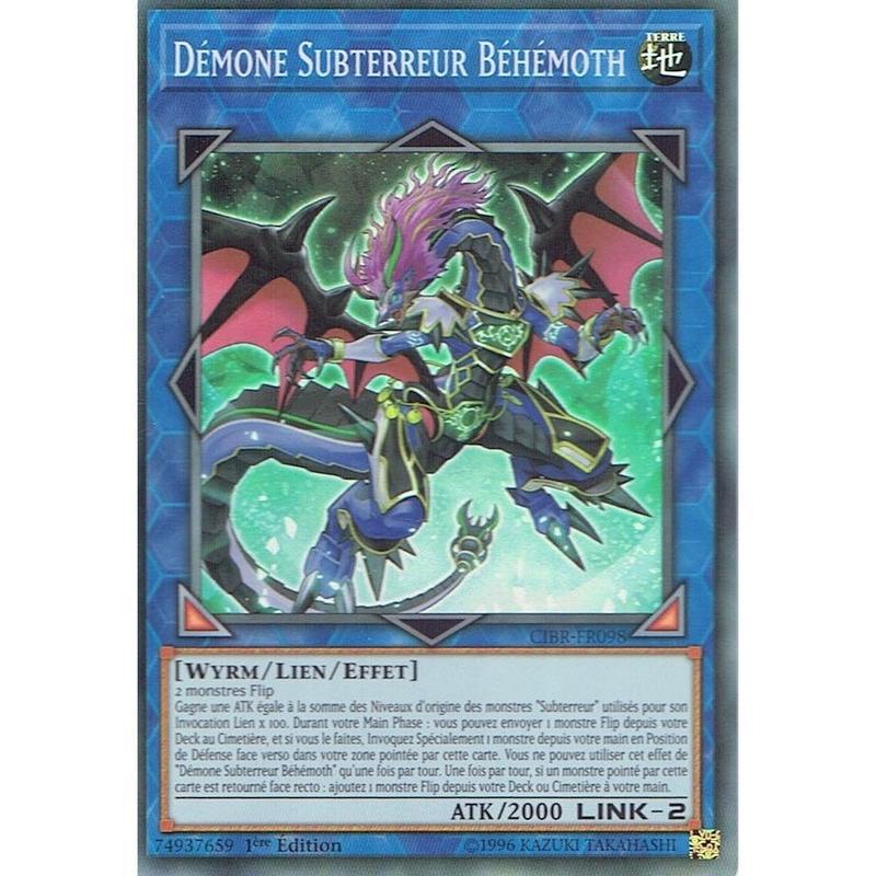 フランス語版 CIBR-FR098 Subterror Behemoth Fiendess サブテラーマリスの妖魔 (スーパーレア) 1st Edition