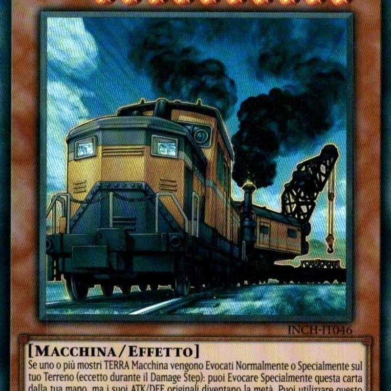 イタリア語版 INCH-IT046 Heavy Freight Train Derricrane 重機貨列車デリックレーン (スーパーレア) 1st Edition