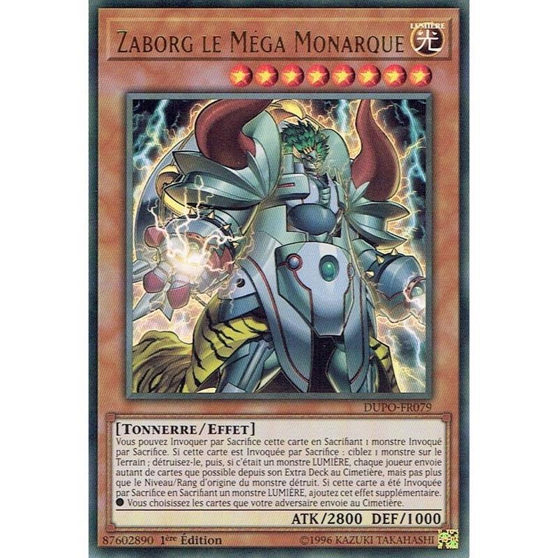 フランス語版 DUPO-FR079 Zaborg the Mega Monarch 轟雷帝ザボルグ (ウルトラレア) 1st Edition