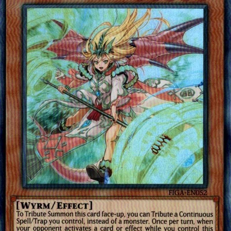 英語版 FIGA-EN052 Majesty Maiden, the True Dracocaster 真竜導士マジェスティM (スーパーレア) 1st Edition