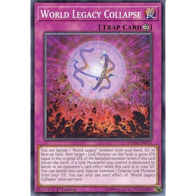英語版 DANE-EN075 World Legacy Collapse 星遺物の齎す崩界 (ノーマル) 1st Edition