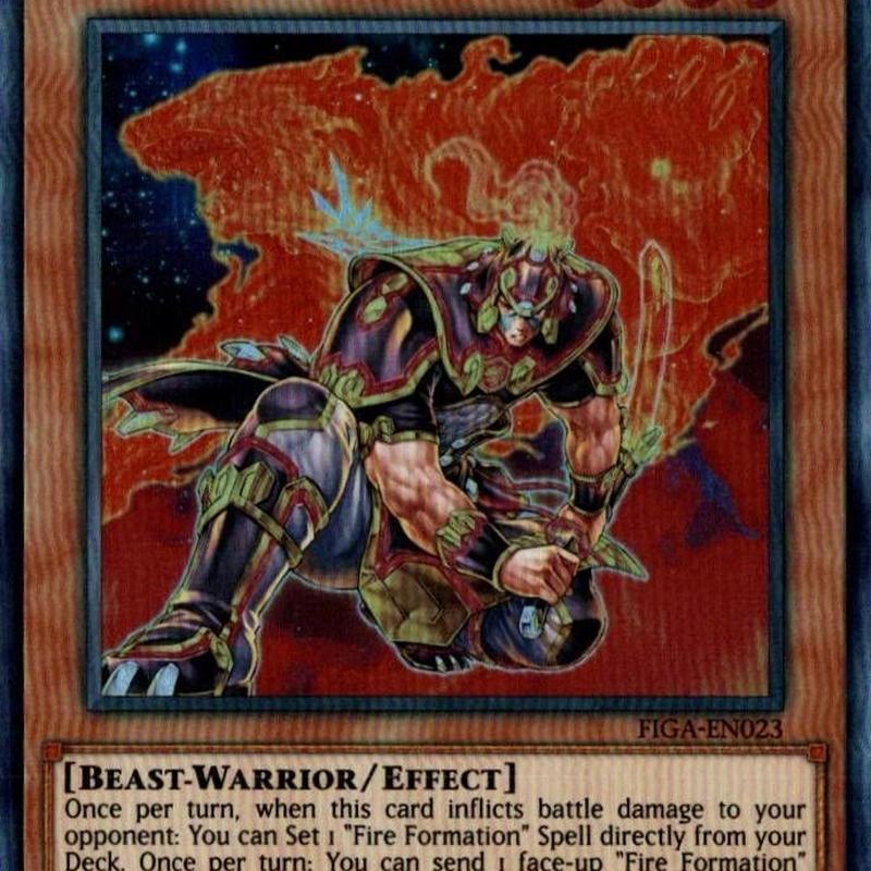 英語版 FIGA-EN023 Brotherhood of the Fire Fist - Bear 暗炎星-ユウシ (スーパーレア) 1st Edition