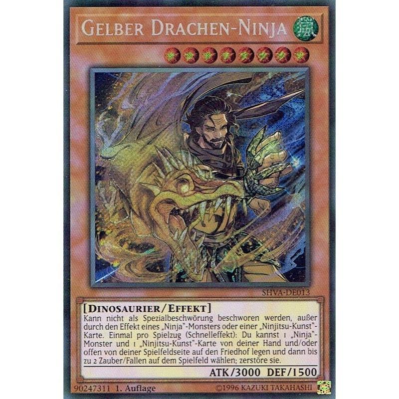 ドイツ語版 SHVA-DE013 Yellow Dragon Ninja 日本未発売 (シークレットレア) 1st Edition