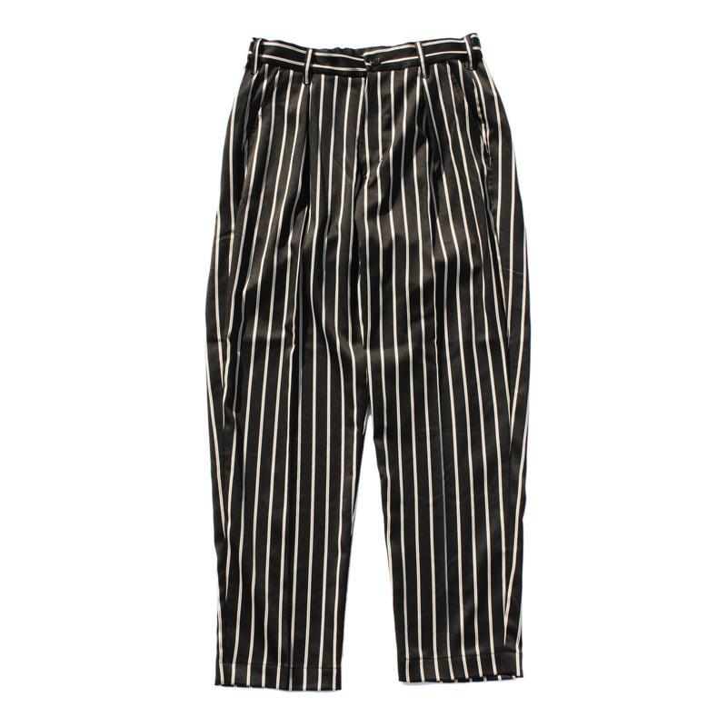 Utility trouser  - Sateen stripe / Black x camel
