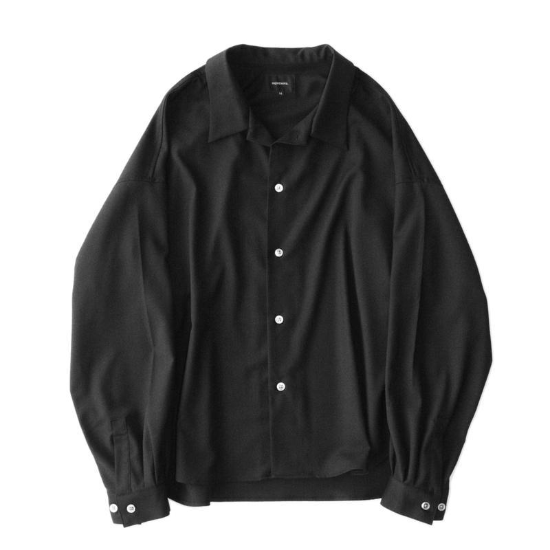 Big shirt 弐 - Gabardine / Black