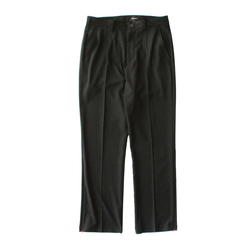 Zip track trouser - Gabardine / Black