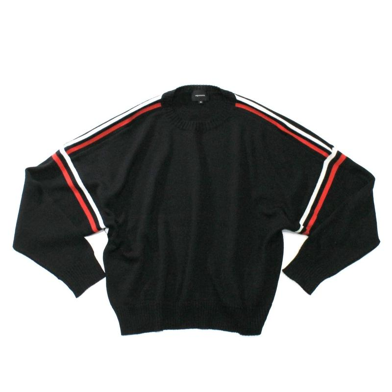 Big line knit / Black