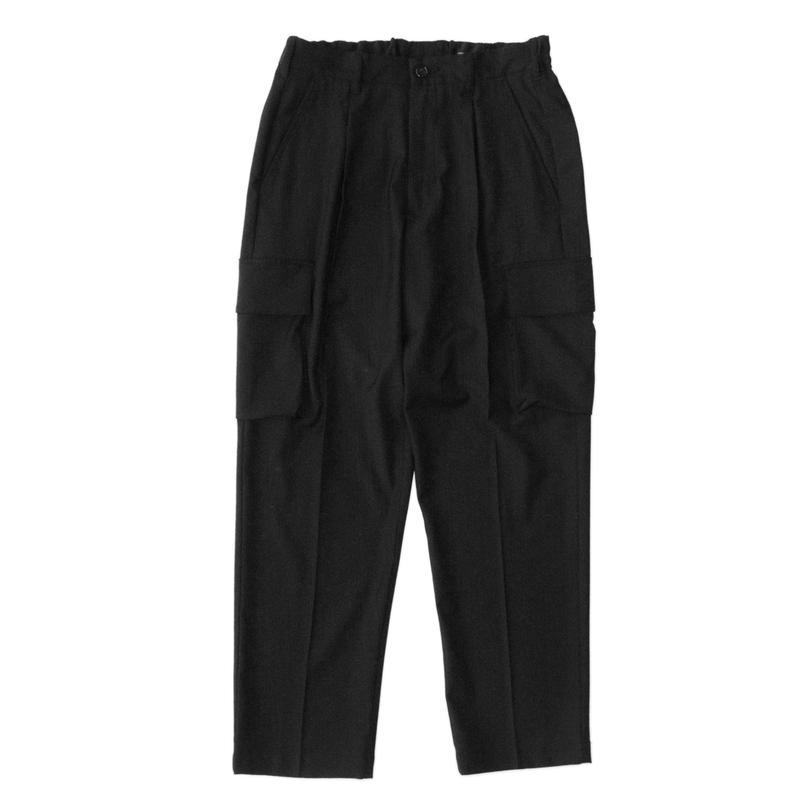 Utility cargo trouser - Gabardine / Black