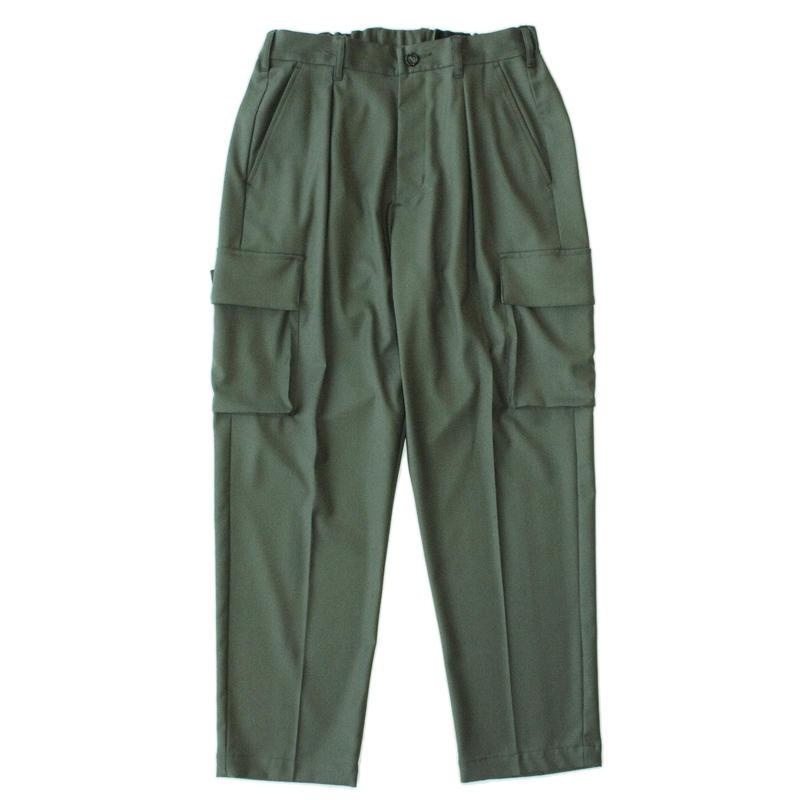 Utility cargo trouser - Gabardine / Olive