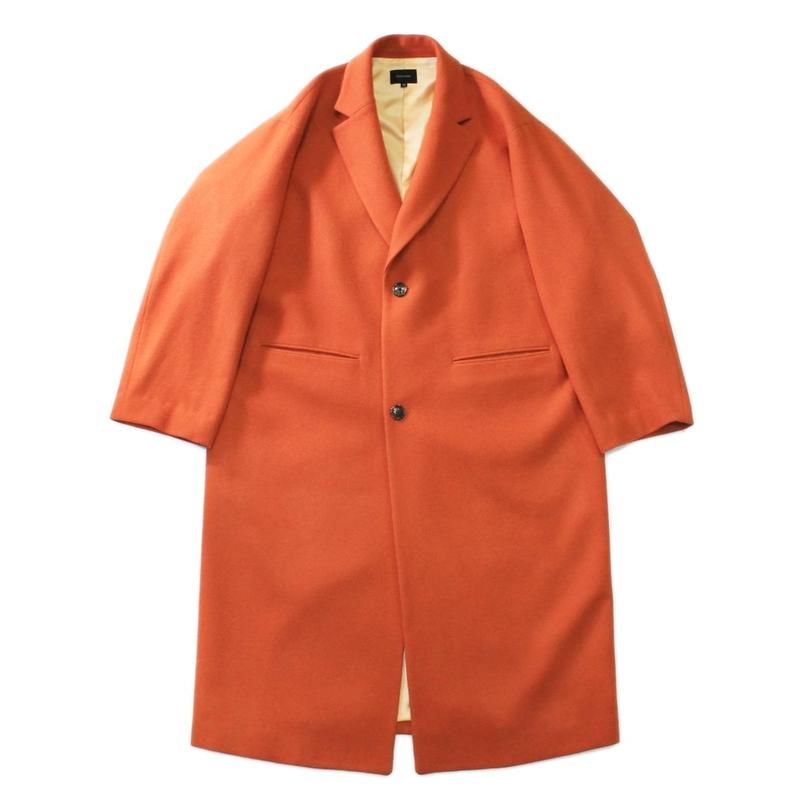 Melton chester coat / Orange