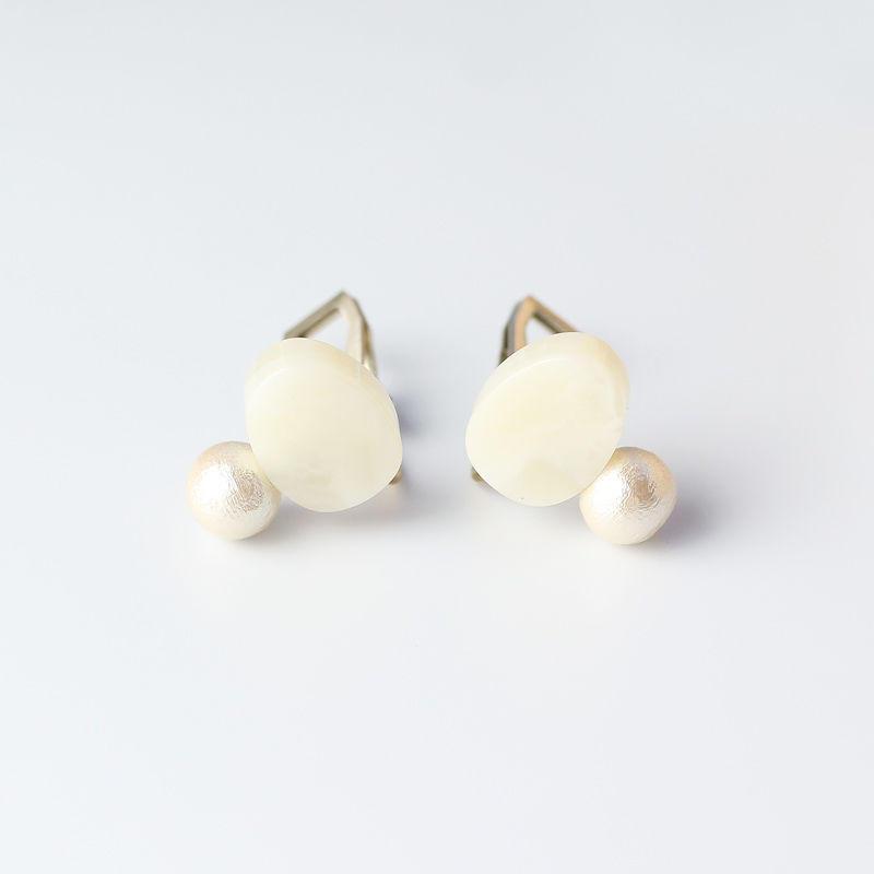 Sur/earrings SR-EA3(WMB)