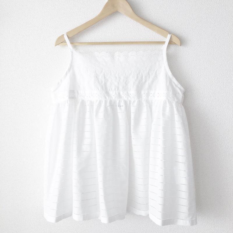 gathered short chemise / 03-7208008