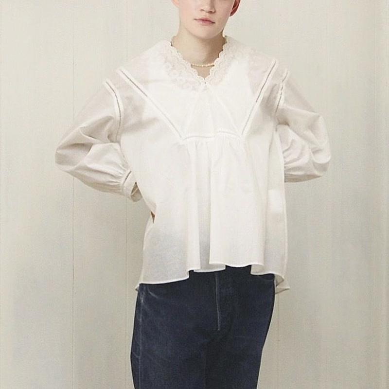 v-neck blouse / 03-9108005