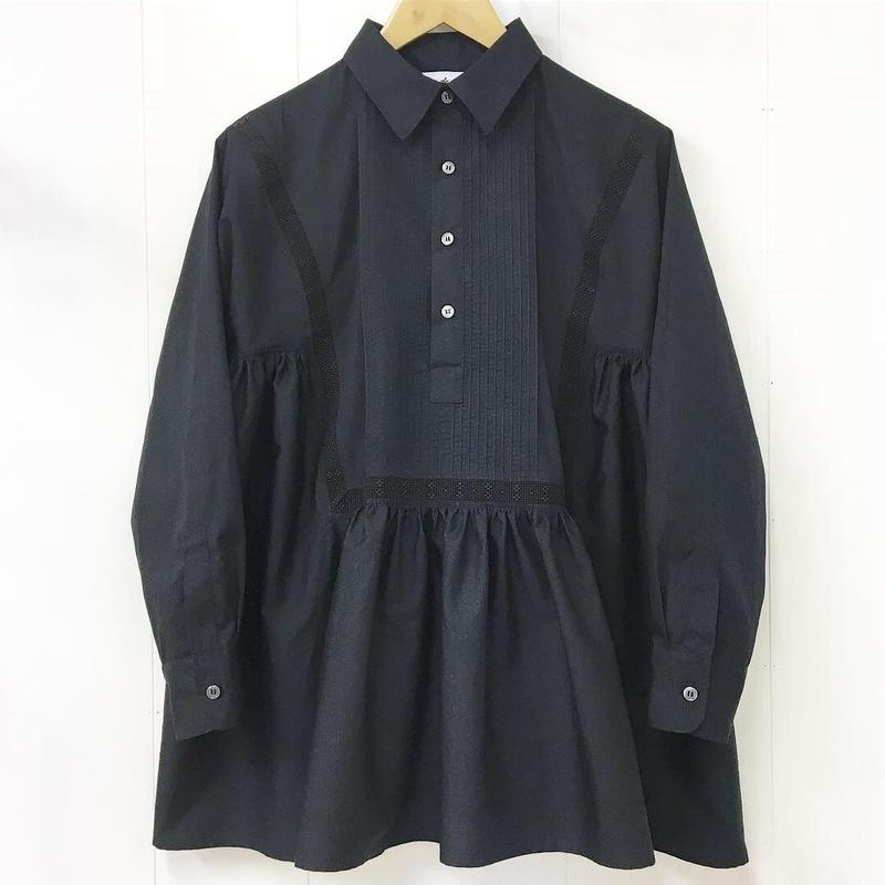 pintuck gathered blouse / 03-8308003