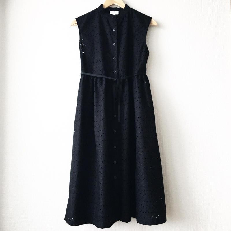 sleeveless gathered op / 03-7205005