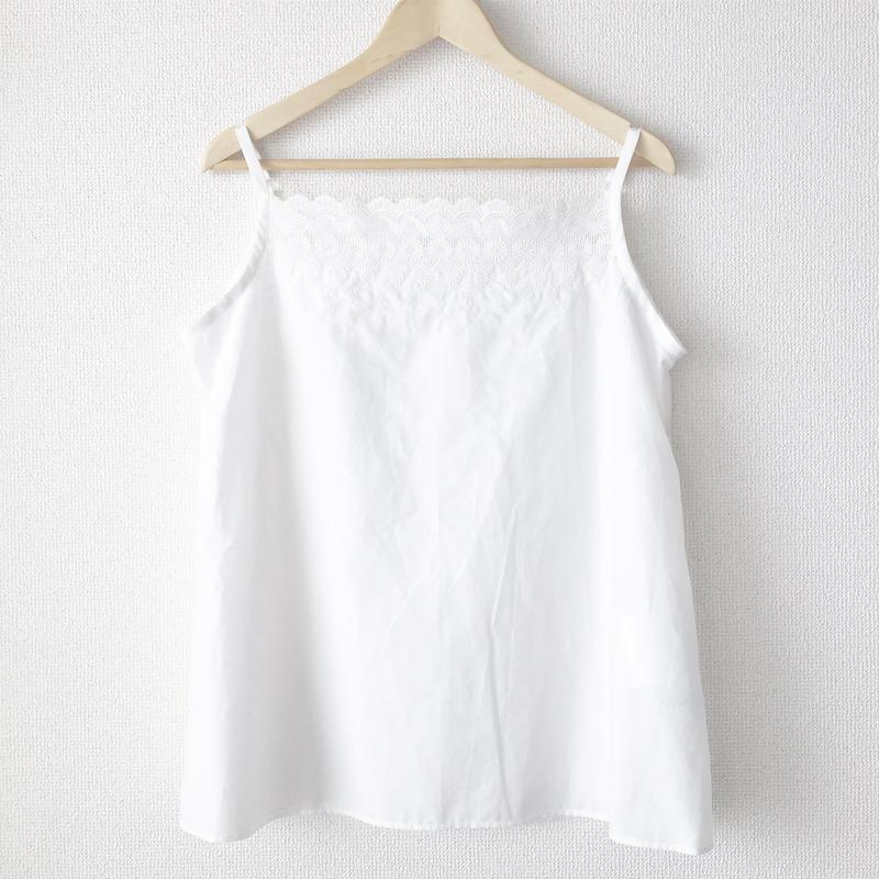 flower embroidered short chemise / 03-7208007
