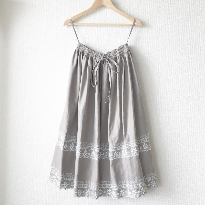 gathered skirt / 03-7307002