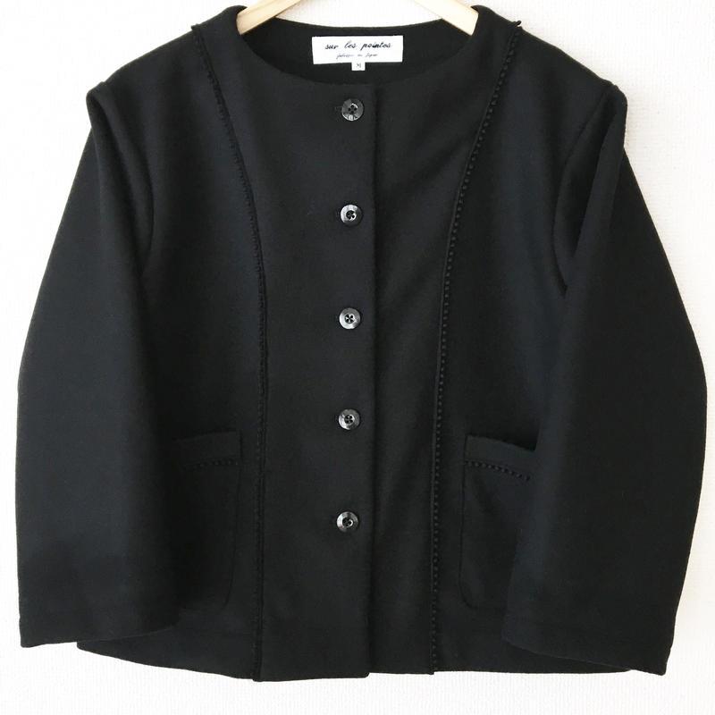 collarless  melton jacket / 03-6304001