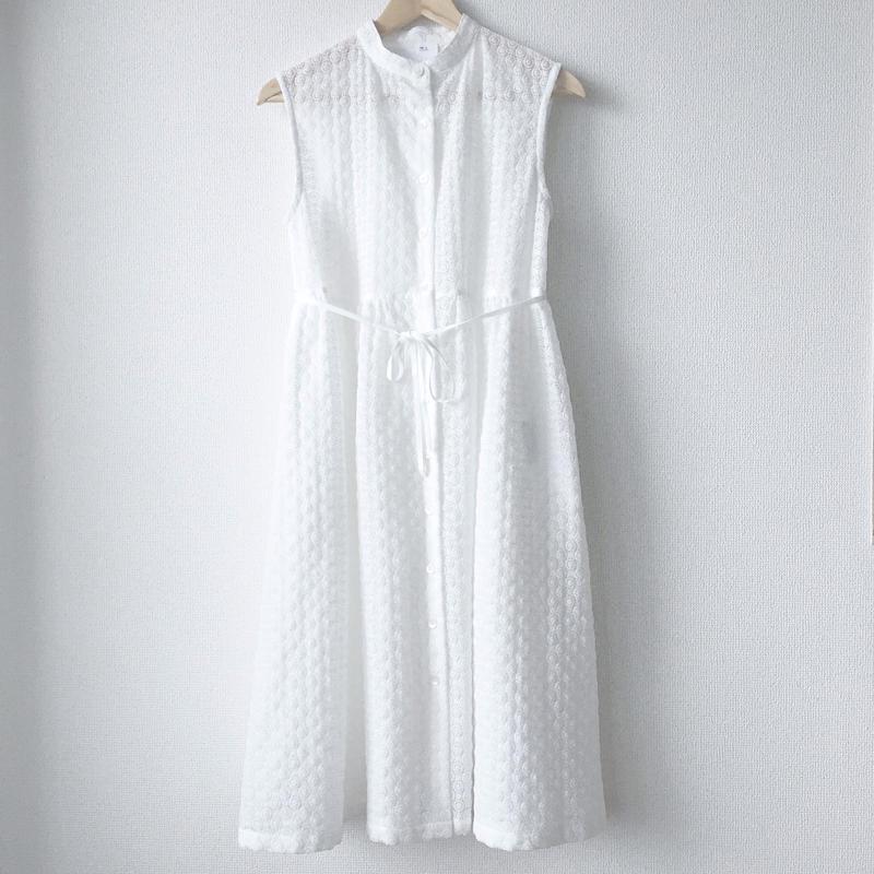sleeveless gathered op / 03-7205003