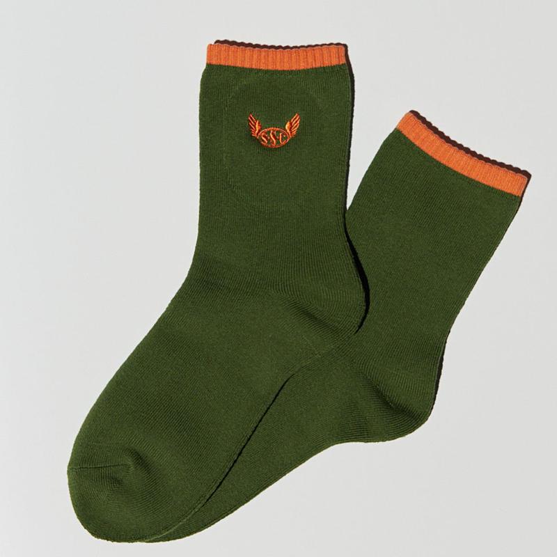 S.S.C Field socks GRN/ORG