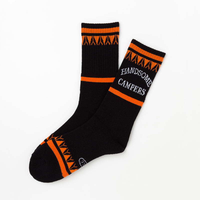 Handsome Oxford × S.S.C Camper Socks BLK/ORG