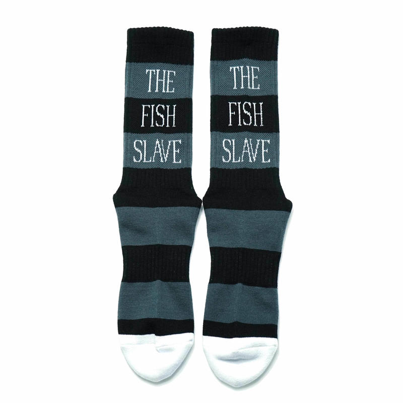 Border Socks  BLACK