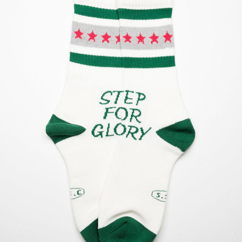 STEP FOR GLORY Line socks  GRN/GRY
