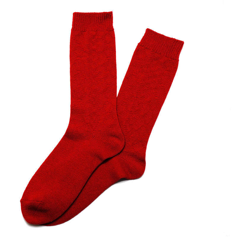 Cable Socks RED
