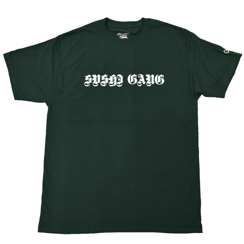 """SUSHI GANG"" Champion T  Dark Green"