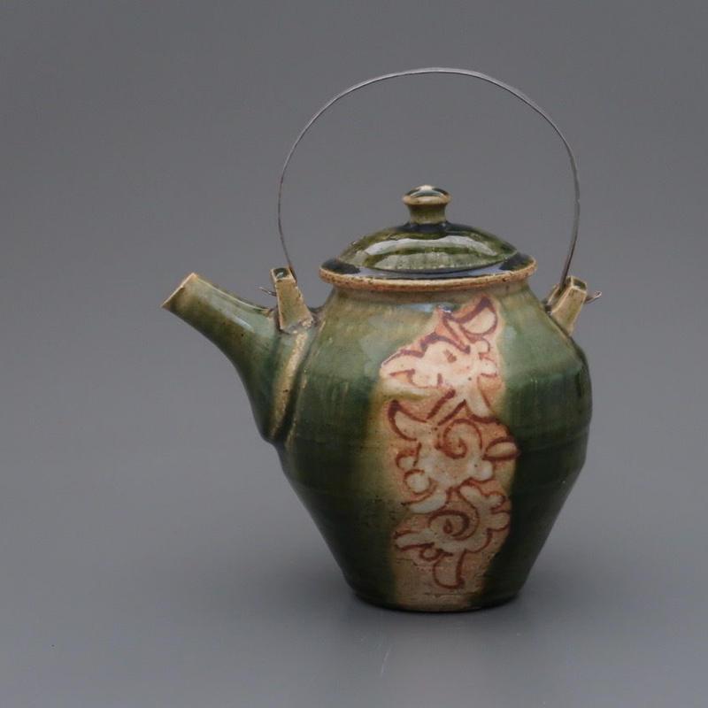 No.105:ORIBE Pot「織部陶瓶」