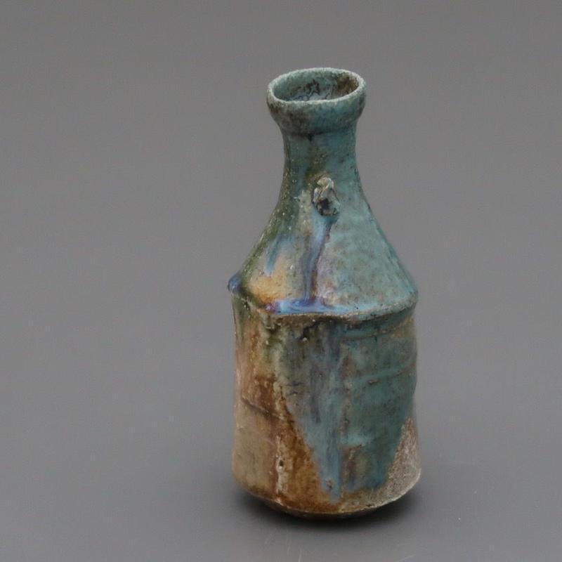 No.115:YOHEN ORIBE SAKE Bottle「窯変織部徳利」