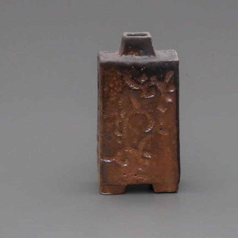 No.121:Gold SHINO Rectungular Vase