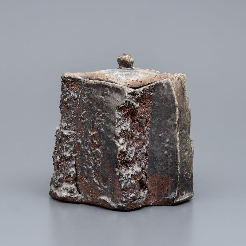 No.20:YOHEN Natural Ash Glaze TOUKAISEKI Water container「窯変灰被陶塊石水指」