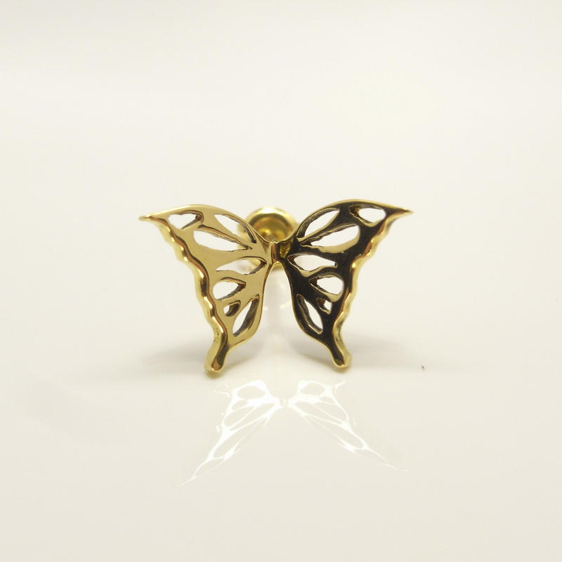 butterfly pierce | Small |k18yg