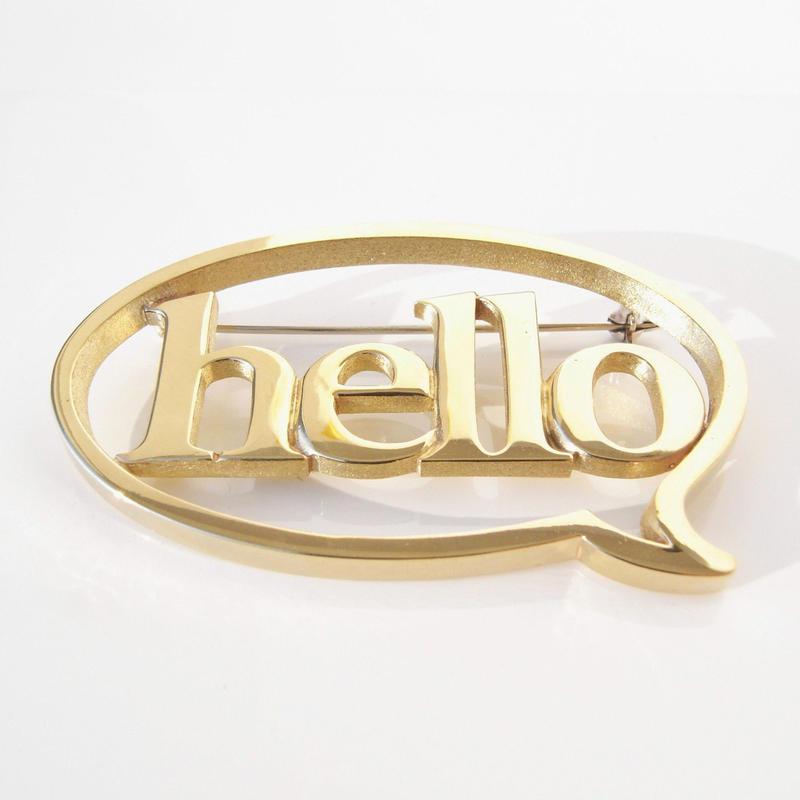 balloon+hello brooch | Brass