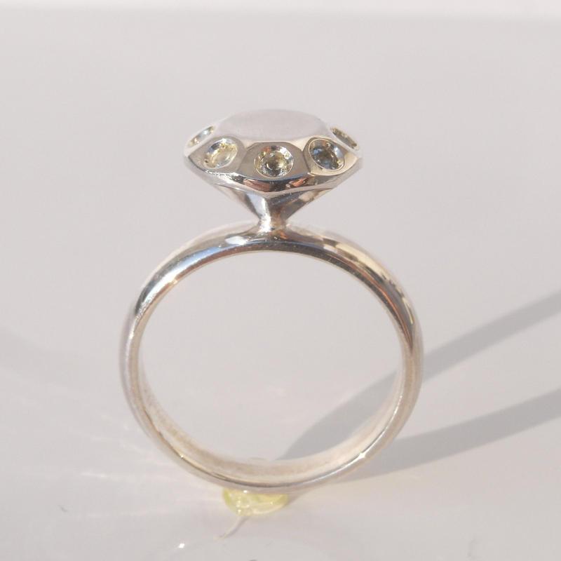 富豪の指輪 5.0ct with stone